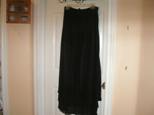 Beautiful New Black Dressy Maxi Skirt.