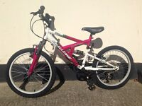Girls full suspension mountain bike