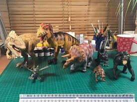 Toy Dinosaurs and Friends