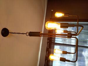 Luminaire vintage 5 branches de type chandelier
