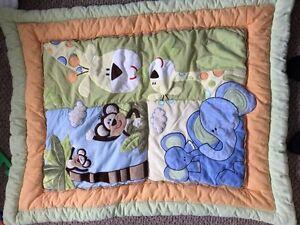 Crib blanket - safari theme
