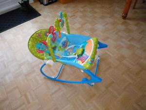 Chaise berceuse et vibrante