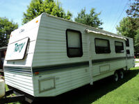31' Terry Trailer with manual pull-out