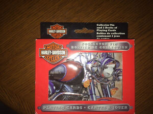 Harley Davidson unopened playing cards and collector cards