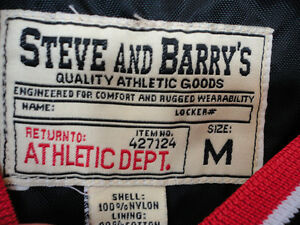 Steve and Barry's red fleece lined winter jacket hockey clothing London Ontario image 9
