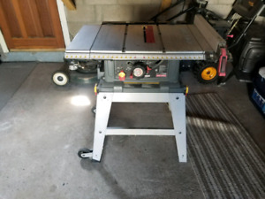 "Craftsman 10"" table saw."