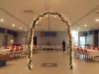 8 Foot Prelit Wedding Arch - Located in Amherst, NS