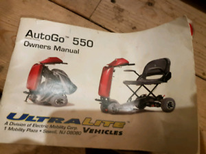 Power wheel chair-Autogo 550 with trunk lift