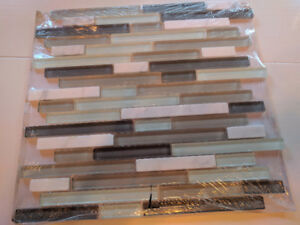 New, unopened glass mosaic tiles
