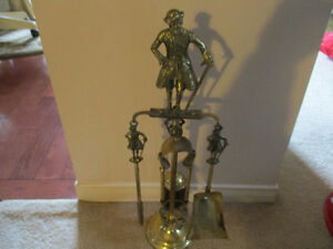 Fireplace poker set brass Kitchener / Waterloo Kitchener Area image 1
