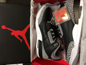 DS AIR JORDAN 3 's BLACK CEMENT SZ 9