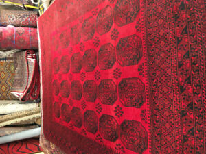 Beautiful  afghan  Turkmrug hand made 100%wool 8.0x11.0$750only