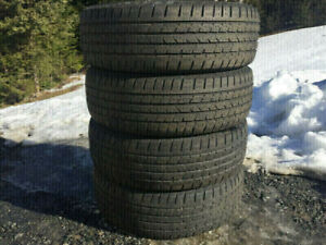 Four Continental 225/65R17 Summer Tires