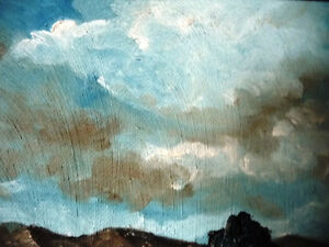 "Original Oil Painting by Graham ""Landscape Under A Cloudy Sky"" Stratford Kitchener Area image 3"