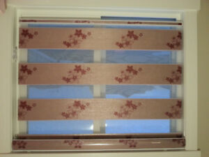 The blind spot window coverings (zebra Sheer / honey comb/ tripl