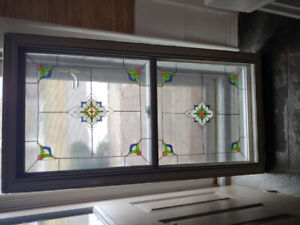 Window - frosted w/Stained Glass - $250