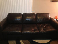 *** PRICE REDUCED*** 4 piece leather couch set