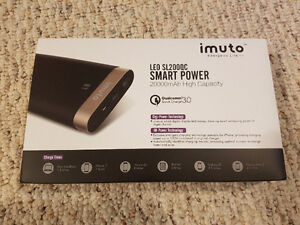 iMuto 20,000mAh USB Power Pack w/ QuickCharge. NEW!