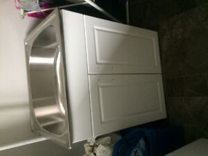 Brand new laundry tub with taps