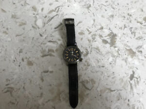 Men's Leather Fossil watch