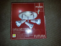 Three head ceiling light fixture