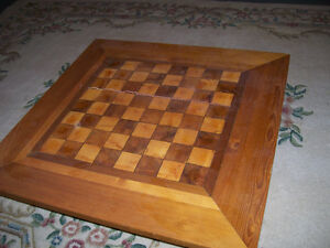 Large solid wood chess/checkers table