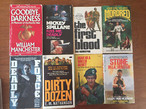 Military / Action/ Spy Novels/War memoirs..price reduced