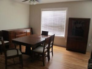 Dining Table with 6 chairs & matching Buffet and China Cabinet