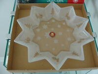 "Brand  New ""Walther"" Star Shape Glass Plate $10"