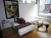 Italian white leather sectional!!!