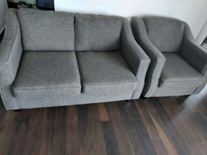 Excellent condition love seat & couch