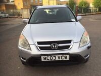 Honda CRV silver colour automatic Low mileage