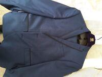 """Men's next blue suit jacket 42"""" trousers w34"""" l30"""""""