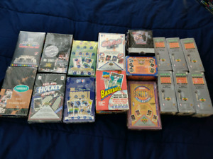 Variety of Sports Cards Boxes