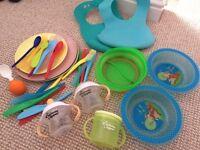 Baby feeding plates bowls cutlery bibs cups