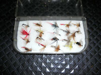 Coffre a mouches, 20 mouches neuf, Truite, Fly fishing box