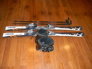Head Skis, Boots and poles