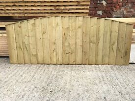 WOODEN PRESSURE TREATED BOW TOP FENCE PANELS 🌲