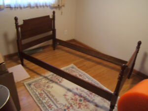 Vintage Solid wood single bed frame