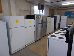 Fridges large selection all with 90 day warranty. $249 and up.