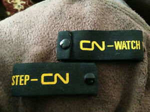 CN CNR Conductor Arm Bands, Pant Cuffs Watch Your Step Mint