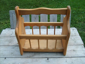 Excellent Condition  Canadian Made Wooden Magazine Rack