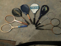 TENNIS AND BADMINTON RACQUETS