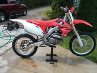 2009 crf450r trade for 2003+ 700cc + sled