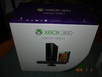 console xbox 360 dernier  generation dans boite 4 gig kinect & +