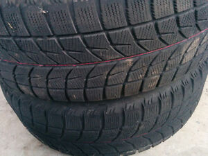 Snow tires with steel rims / $200.00 OBO Kawartha Lakes Peterborough Area image 3