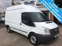 2011 61 FORD TRANSIT RWD T350 MWB HIGH ROOF FULLY FITTED WORKSHOP VAN FSH