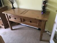 Rustic Pine Console Table