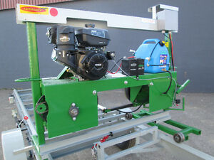 BAND SAW MILL FARMHAWK WITH TRAILER AND POWER SET WORKS 14HP Prince George British Columbia image 3