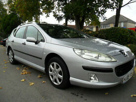 PEUGEOT 407 SW 1.6 HDI DIESEL ESTATE 2004 COMPLETE WITH M.O.T HPI CLEAR